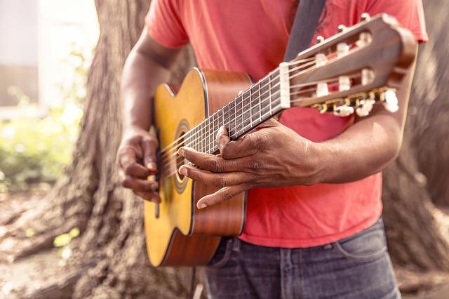 Hrající kytarista
